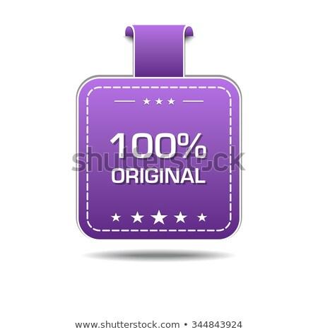 100 százalék eredeti ibolya vektor ikon Stock fotó © rizwanali3d