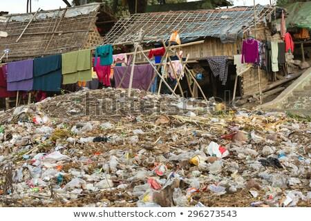 Slum area in Myanmar Stock photo © smithore