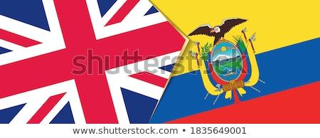 Büyük Britanya Ekvador bayraklar bilmece yalıtılmış beyaz Stok fotoğraf © Istanbul2009