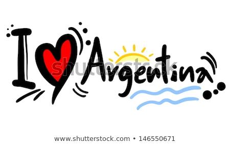 vierkante · icon · vlag · Argentinië · geïsoleerd · witte - stockfoto © mikhailmishchenko