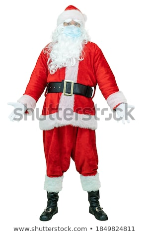 Santa claus throw up hands Stock photo © LoopAll