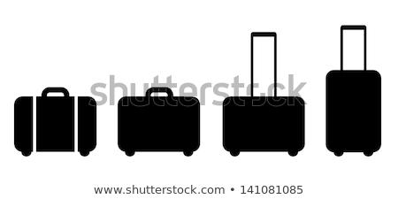 スーツケース · フラグ · エジプト · 旅行 · 孤立した · 白 - ストックフォト © carbouval