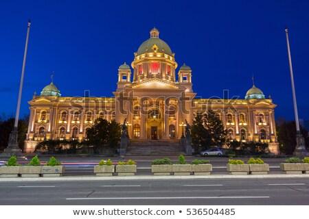 Parliament of the Republic of Serbia in Belgrade at night Stock photo © Kirill_M