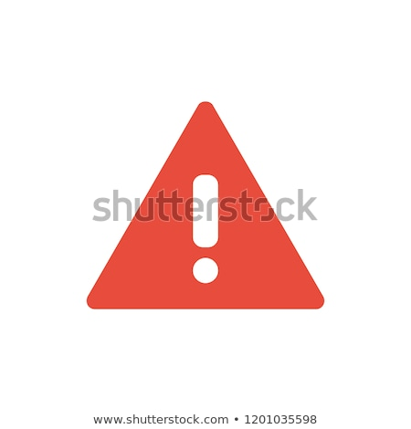 знак опасности красный вектора икона дизайна цифровой Сток-фото © rizwanali3d