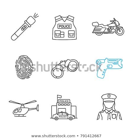 Isolato gun bianco elettrici arma cop Foto d'archivio © shutswis