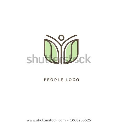 Vida saudável logotipo modelo diversão pessoas ícone Foto stock © Ggs