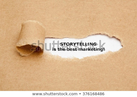 Content Marketing Quote Torn Paper Stock photo © ivelin