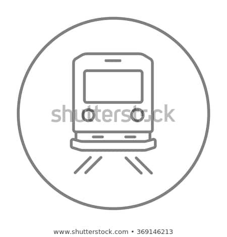 ver · de · volta · trem · linha · ícone · teia · móvel - foto stock © rastudio