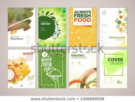 自然食品 パンフレット デザイン 葉 夏 緑 ストックフォト © blotty