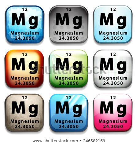 a button showing the element magnesium stock photo © bluering