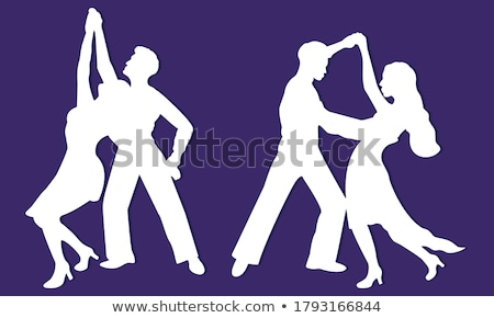 ретро человека женщину танцы Поп-арт вектора Сток-фото © studiostoks