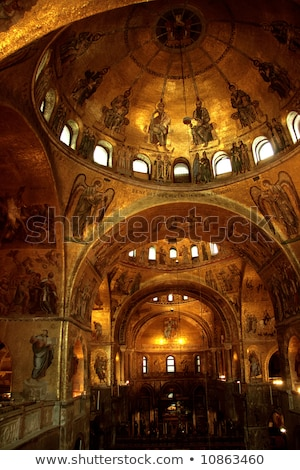 view of the San Marco cathedral interiors Stock photo © artjazz