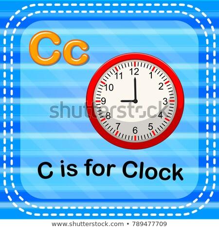 C betű óra illusztráció háttér művészet oktatás Stock fotó © bluering