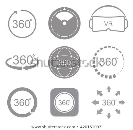 Angle 360 degrees view sign icon. Stock photo © m_pavlov