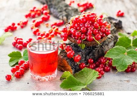 Vermelho groselha suco ar bubbles Foto stock © nailiaschwarz