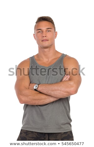 young muscular man Stock photo © konradbak