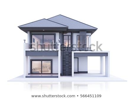 モデル 家 孤立した 白 ホーム アーキテクチャ ストックフォト © obscura99