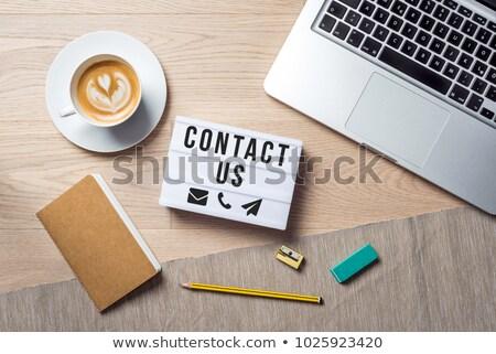 negocios · teléfono · memorándum · lápiz · moderna · aislado - foto stock © fuzzbones0