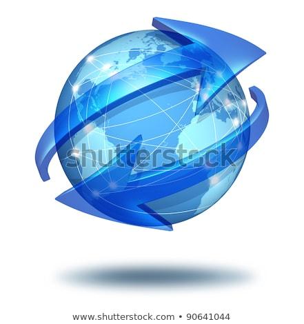 Teia globalização internacional comunicação novo Foto stock © grechka333