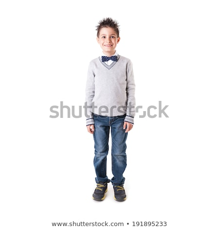 Stock photo: cute papillon portrait in white photo studio