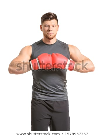 man in fight pose on white background Stock photo © Istanbul2009