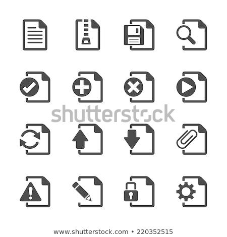 Compress Data Icon Stock photo © sdCrea