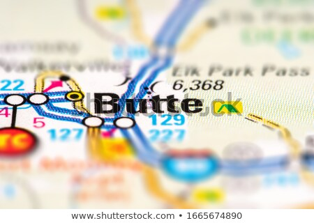 butte city pin on the map stock photo © alex_grichenko