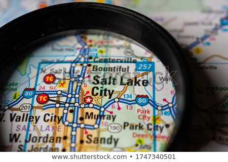 great falls city pin on the map stock photo © alex_grichenko