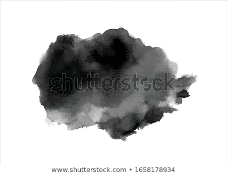 black watercolor stain of ink vector design illustration Stock photo © SArts