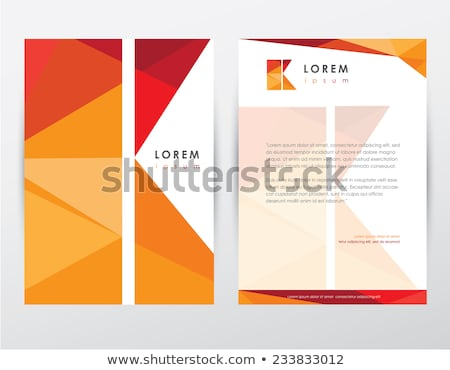 Kreative modernen niedrig Briefkopf Vorlage Vektor Stock foto © SArts