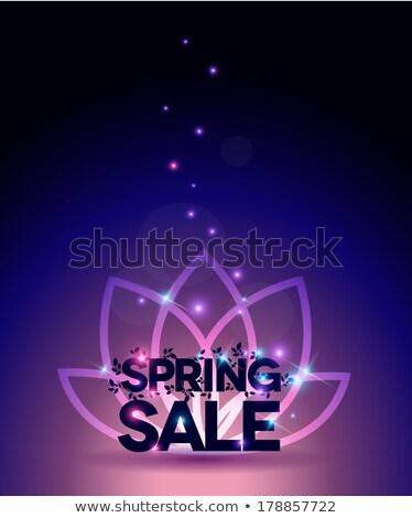 ярко весны продажи плакат красивой цветами Сток-фото © Tefi