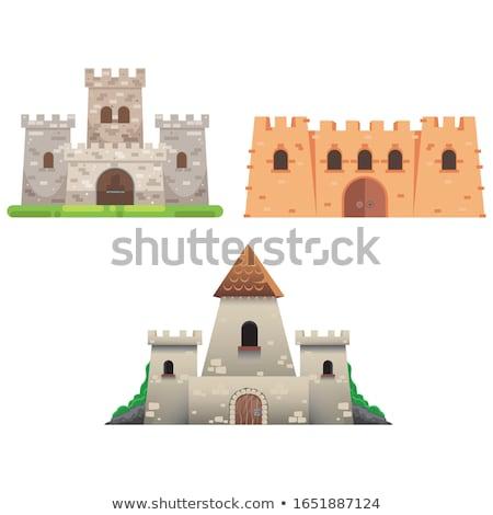Châteaux graphique stylisé vecteur vieux ciel Photo stock © tracer
