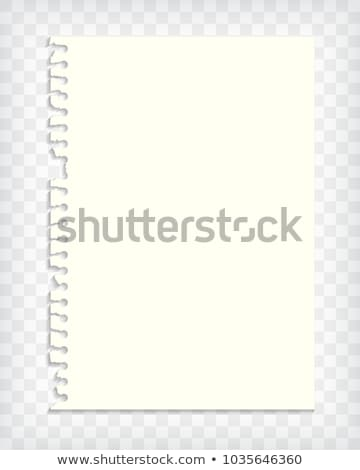 Blank checkered note book page with torn edge vector illustration ...