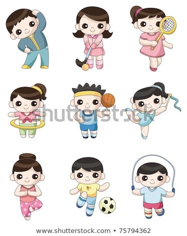 Firka karakter gimnasztikai játékosok illusztráció lány Stock fotó © bluering