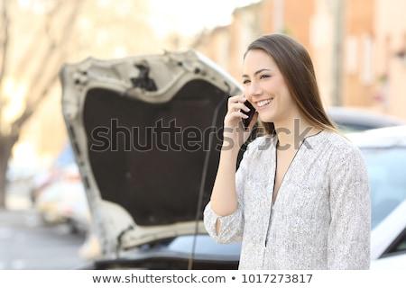 Dziewczyna przydrożny wsparcie ilustracja kobieta samochodu Zdjęcia stock © adrenalina