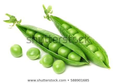 Verde chícharos hoja fondo mesa blanco Foto stock © yelenayemchuk