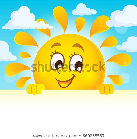 Happy lurking sun theme image 4 Stock photo © clairev