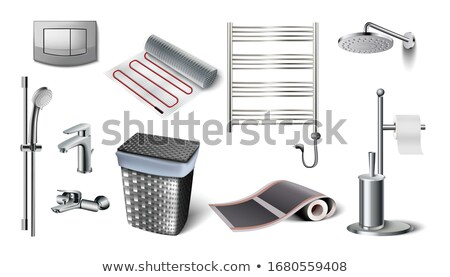 Shower isolated. Water and central water supply. Wash Stock photo © popaukropa