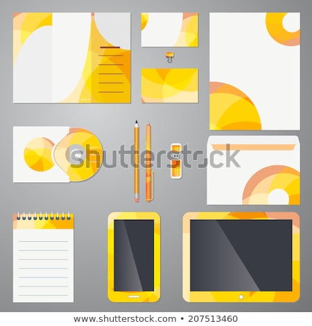 corporate business stationery template set mockup design with gr Stock photo © SArts