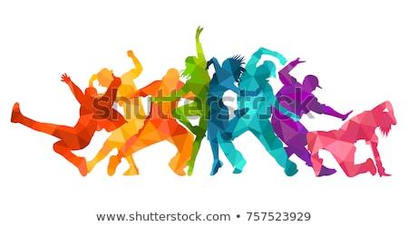 sziluett · fiatalember · táncos · izolált · teljes · alakos · stúdió - stock fotó © julenochek