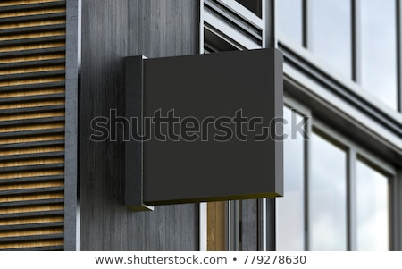 Square signboard Stock photo © magraphics
