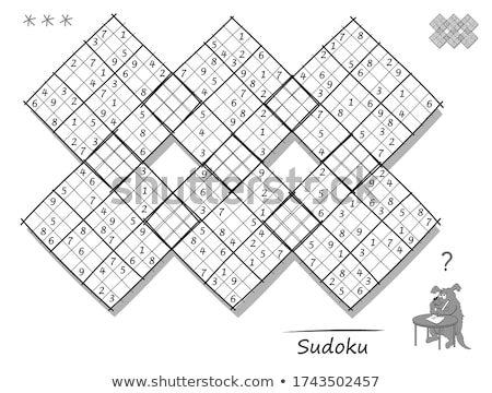 Count the squares 6 ansver Stock photo © Olena
