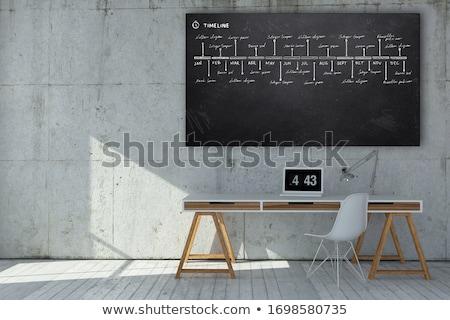 learn statistics on chalkboard in the office 3d stock photo © tashatuvango