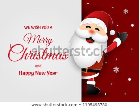 漫画 · サンタクロース · 吹き出し · 手 · クレイジー · クリスマス - ストックフォト © studiostoks
