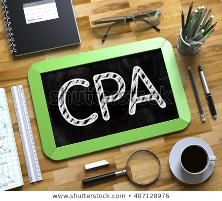 CPA - Text on Small Chalkboard. 3D. Stock photo © tashatuvango