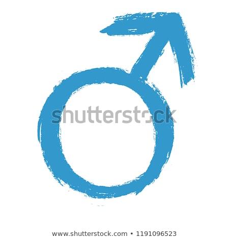 Mannelijke geslacht teken icon witte seks Stockfoto © smoki