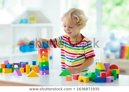boys building tower Stock photo © IS2