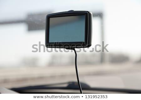 GPS car navigation with blank screen as copy space Stock photo © stevanovicigor