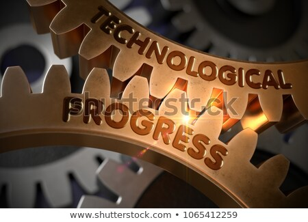 Technological Achievement on the Golden Cog Gears. Stock photo © tashatuvango