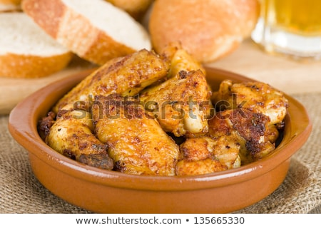 Foto stock: Typical Tapa Chicken Wings Spain